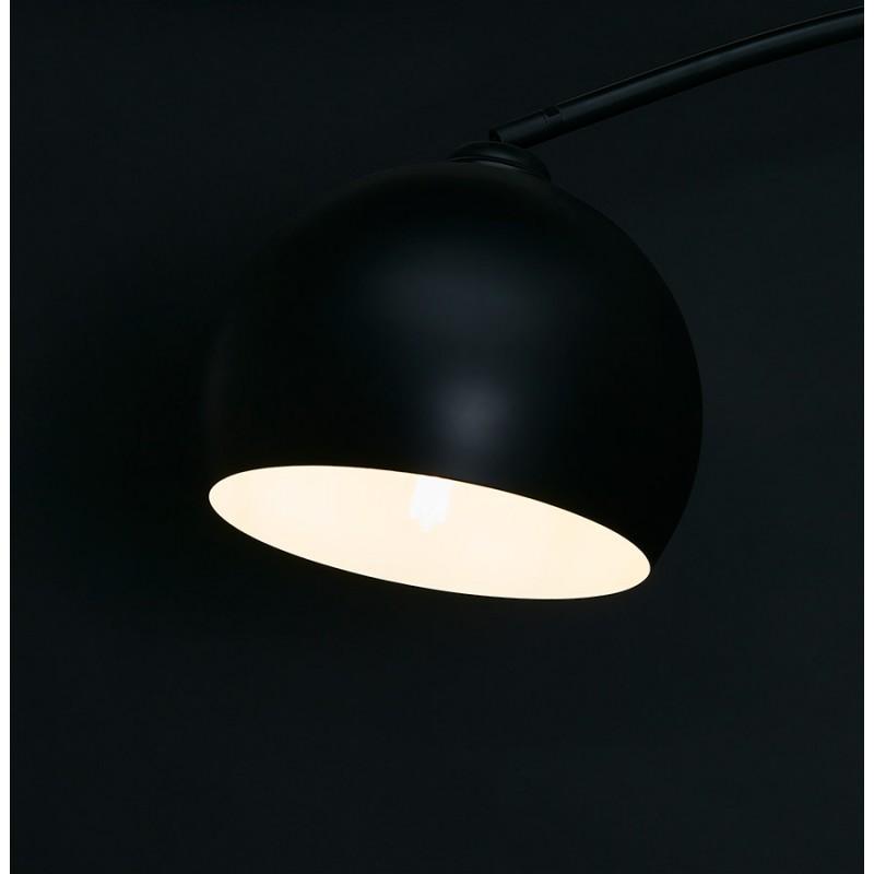 Lámpara de arco de diseño de metal SWEET (negro mate) - image 49320