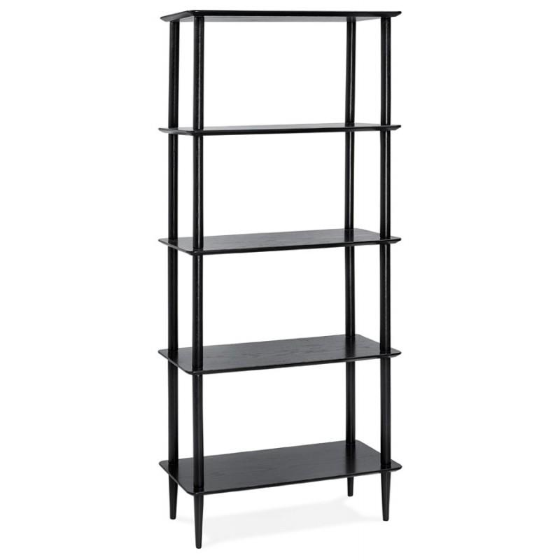 Diseño de biblioteca ampliada estilo escandinavo en roble ERIKA (negro) - image 49370