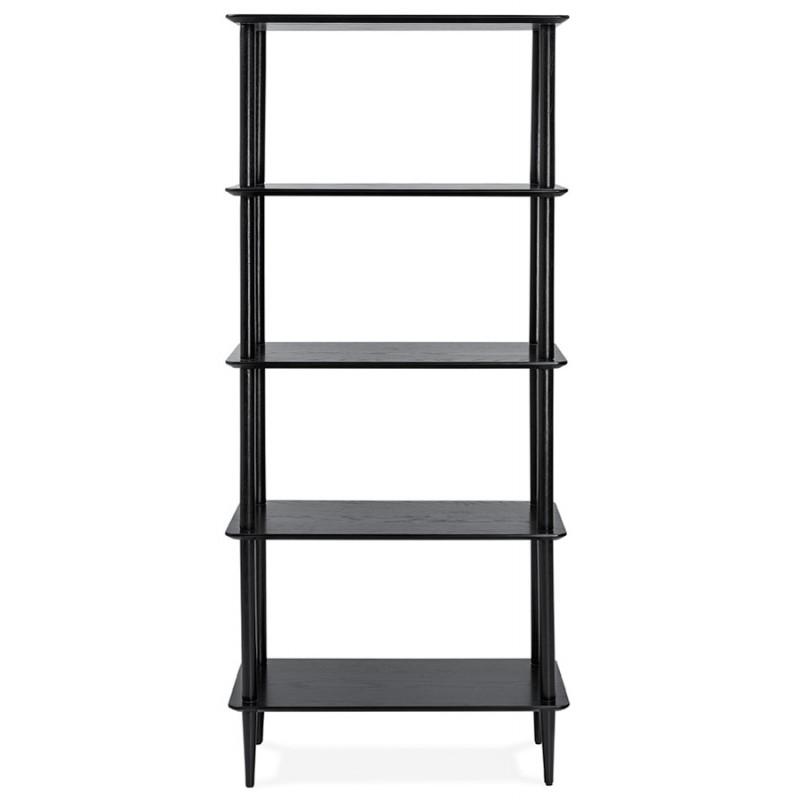 Diseño de biblioteca ampliada estilo escandinavo en roble ERIKA (negro) - image 49371