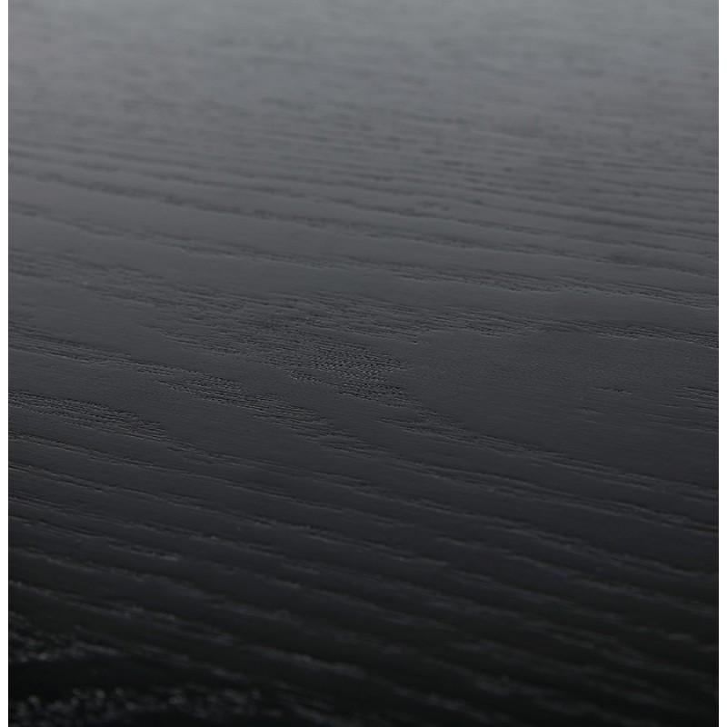 Diseño de biblioteca ampliada estilo escandinavo en roble ERIKA (negro) - image 49376