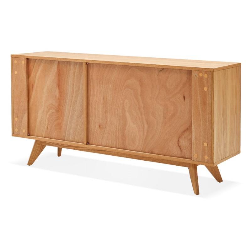 Buffet enfilade design 2 portes 3 tiroirs en bois MELINA (naturel) - image 49397