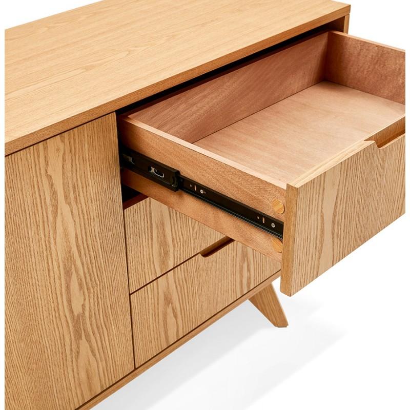 Buffet enfilade design 2 portes 3 tiroirs en bois MELINA (naturel) - image 49403