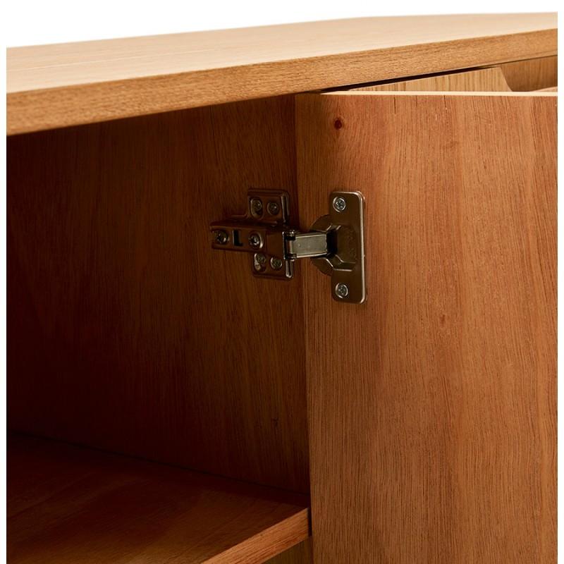 Buffet enfilade design 2 portes 3 tiroirs en bois MELINA (naturel) - image 49404