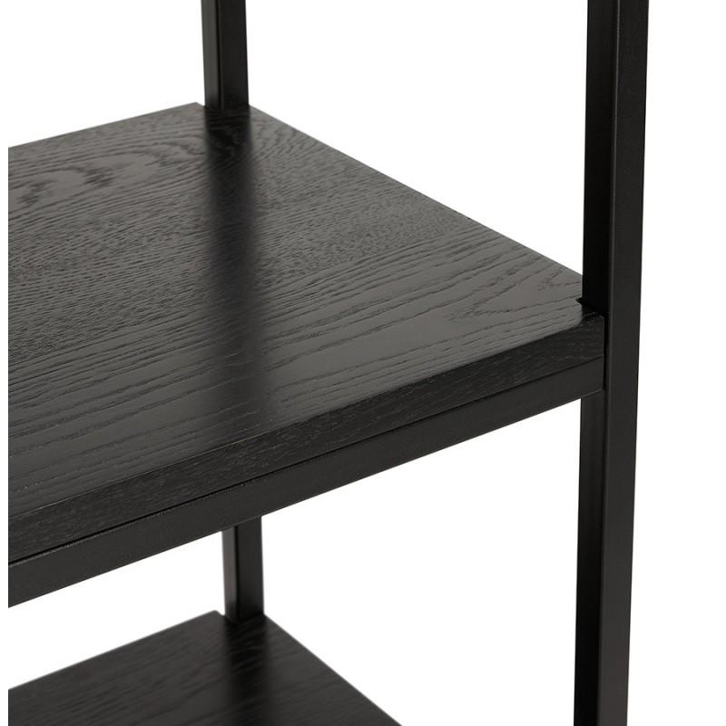 Etagère bibliothèque design style industriel en bois et métal AKARI (noir) - image 49415