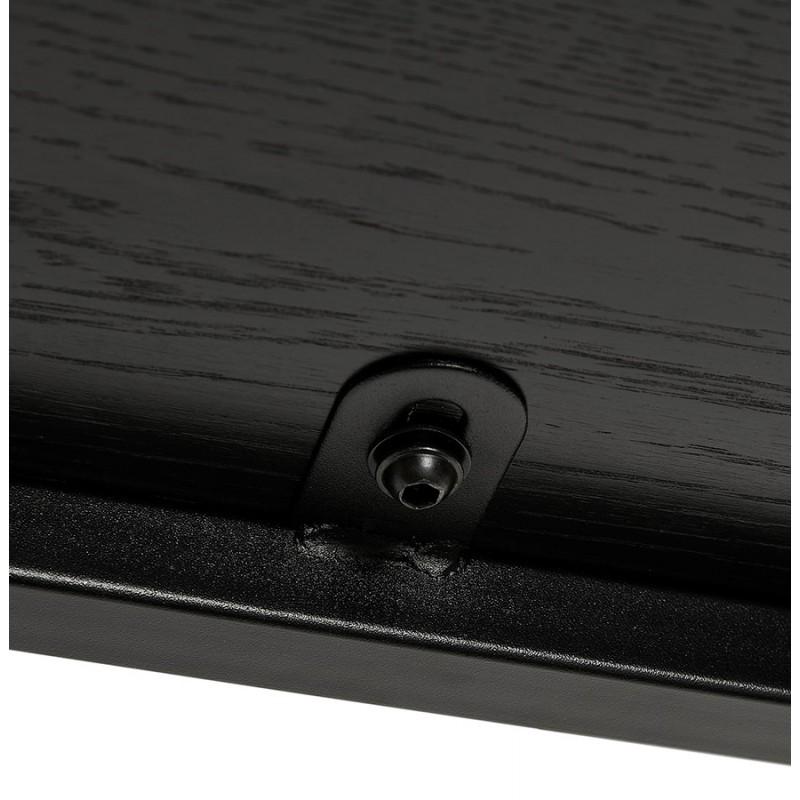 Diseño de biblioteca ampliada estilo industrial en madera y metal AKARI (negro) - image 49416