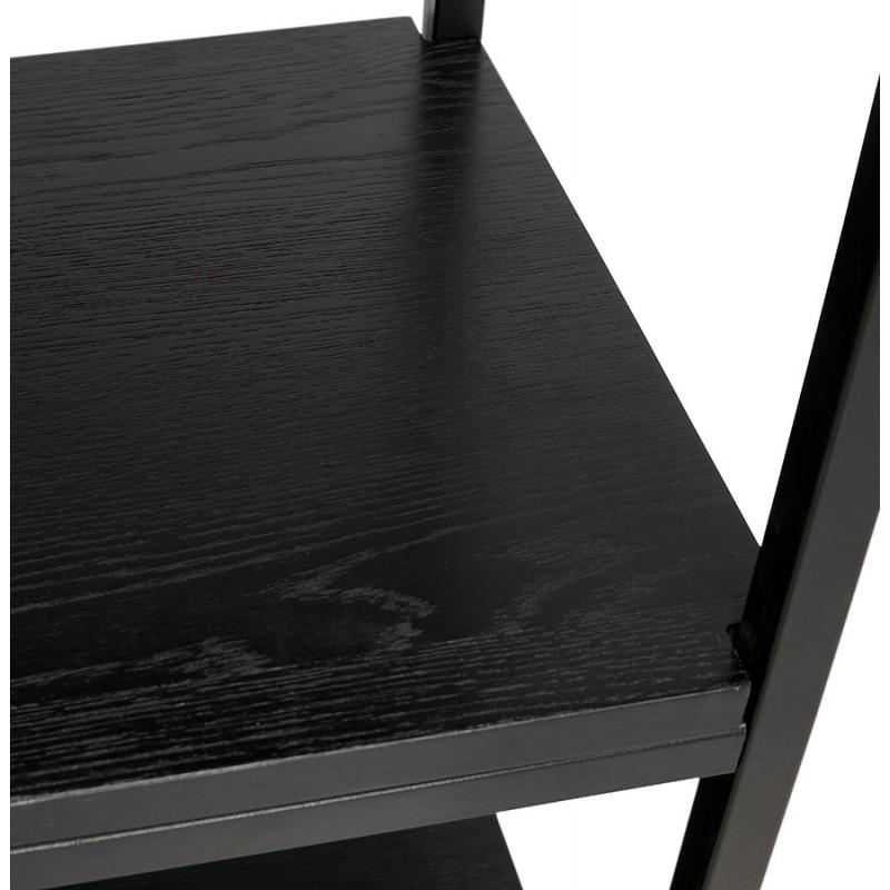 Diseño de biblioteca ampliada estilo industrial en madera y metal AKARI (negro) - image 49418