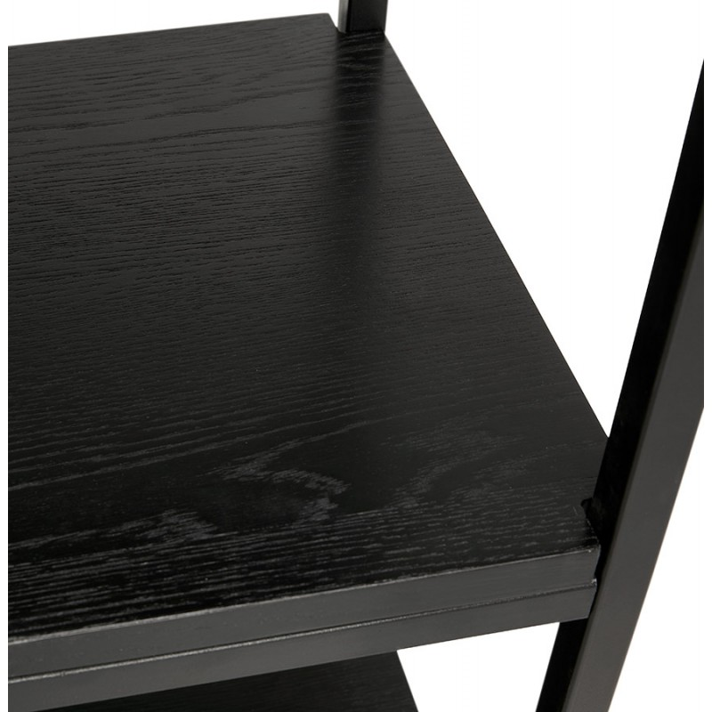 Etagère bibliothèque design style industriel en bois et métal AKARI (noir) - image 49418