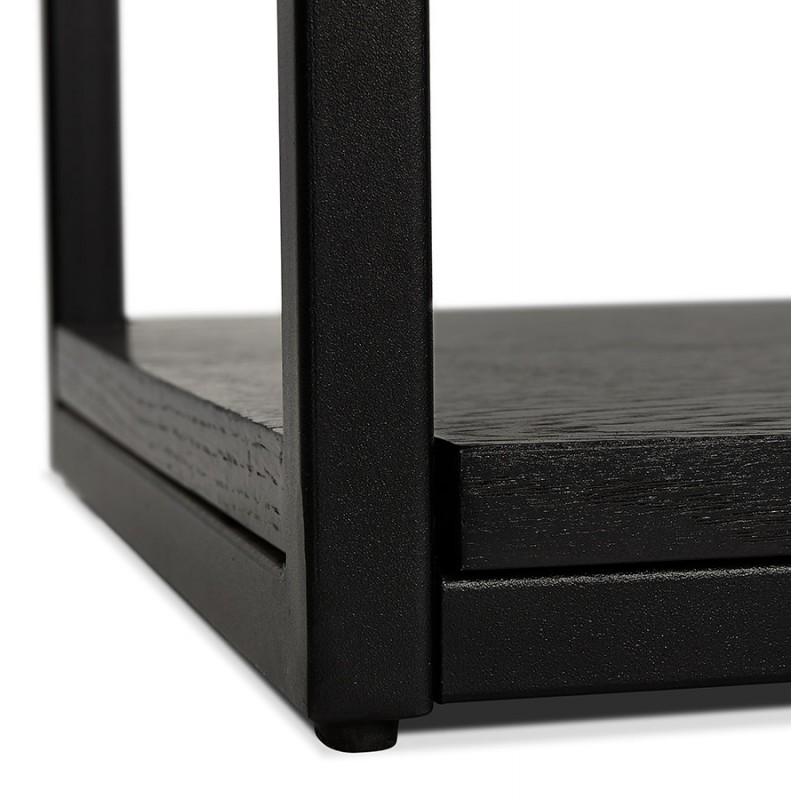 Diseño de biblioteca ampliada estilo industrial en madera y metal AKARI (negro) - image 49419