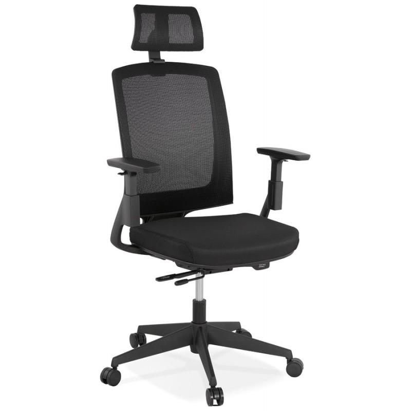 Silla de escritorio ergonómica KAORI (negro)