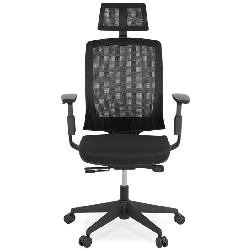 Ergonomische Bürosessel aus KAORI-Stoff (schwarz) - image 49428