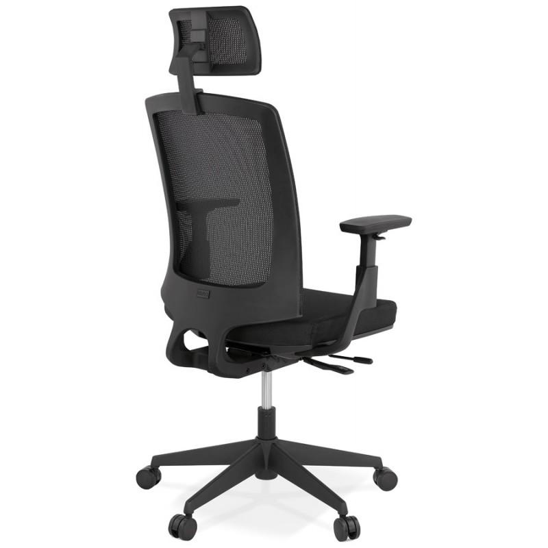 Fauteuil de bureau ergonomique en tissu KAORI (noir) - image 49431