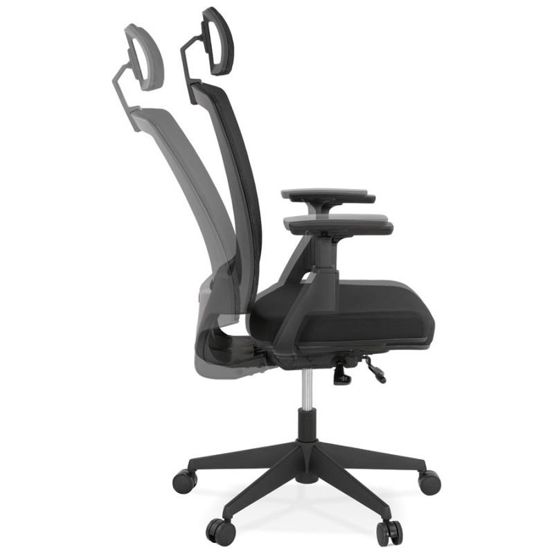 Ergonomische Bürosessel aus KAORI-Stoff (schwarz) - image 49434
