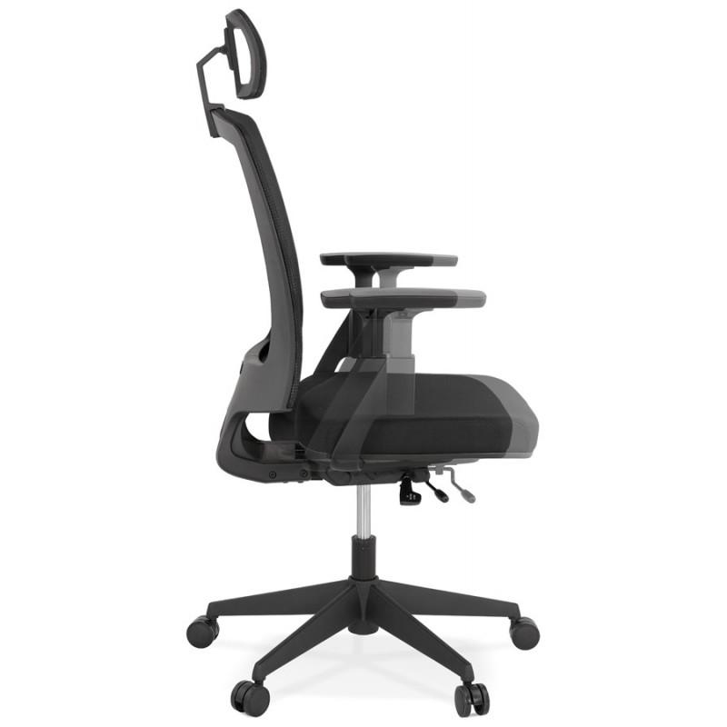Ergonomische Bürosessel aus KAORI-Stoff (schwarz) - image 49435