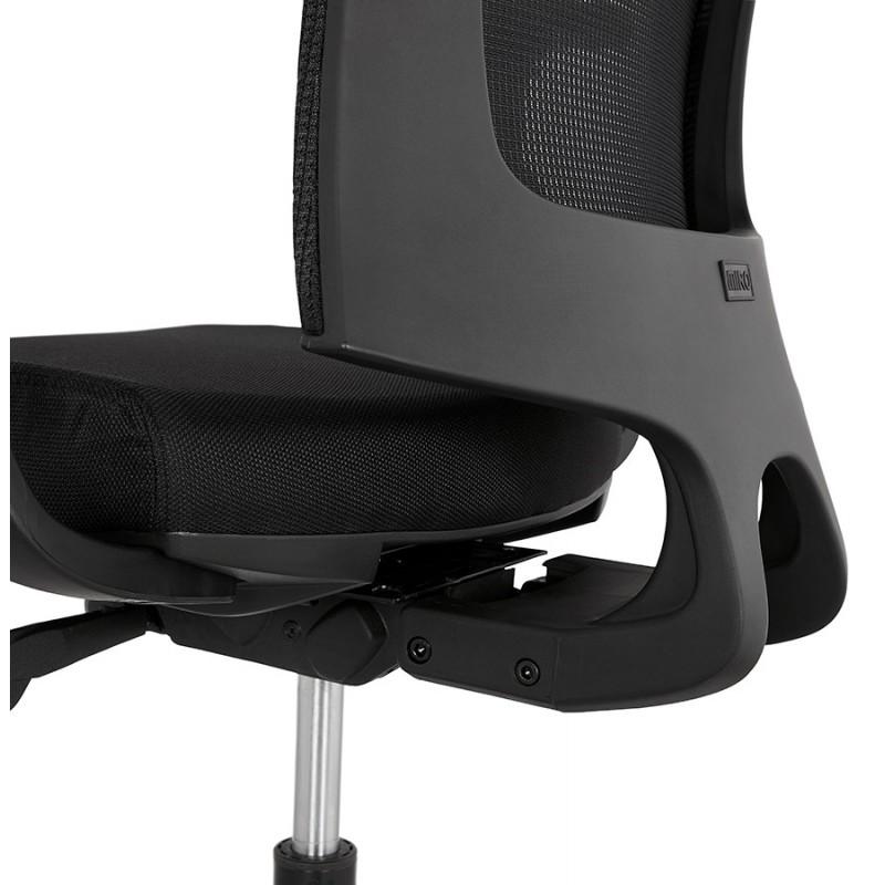 Fauteuil de bureau ergonomique en tissu KAORI (noir) - image 49441