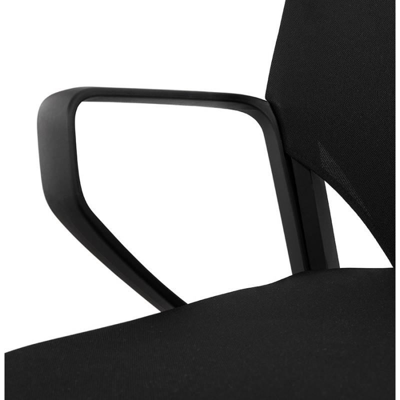 Fauteuil de bureau en tissu AYUMI (noir) - image 49453
