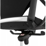 Schreibtischsessel aus AYUMI Stoff (schwarz)