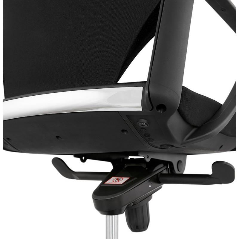 Schreibtischsessel aus AYUMI Stoff (schwarz) - image 49456