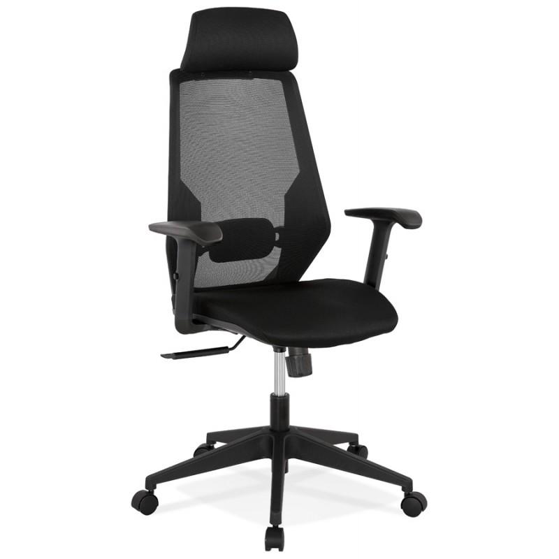 Silla de escritorio ergonómica AMAYA (negro)