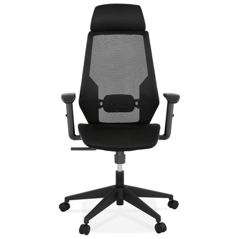 Fauteuil de bureau ergonomique en tissu AMAYA (noir) - image 49478