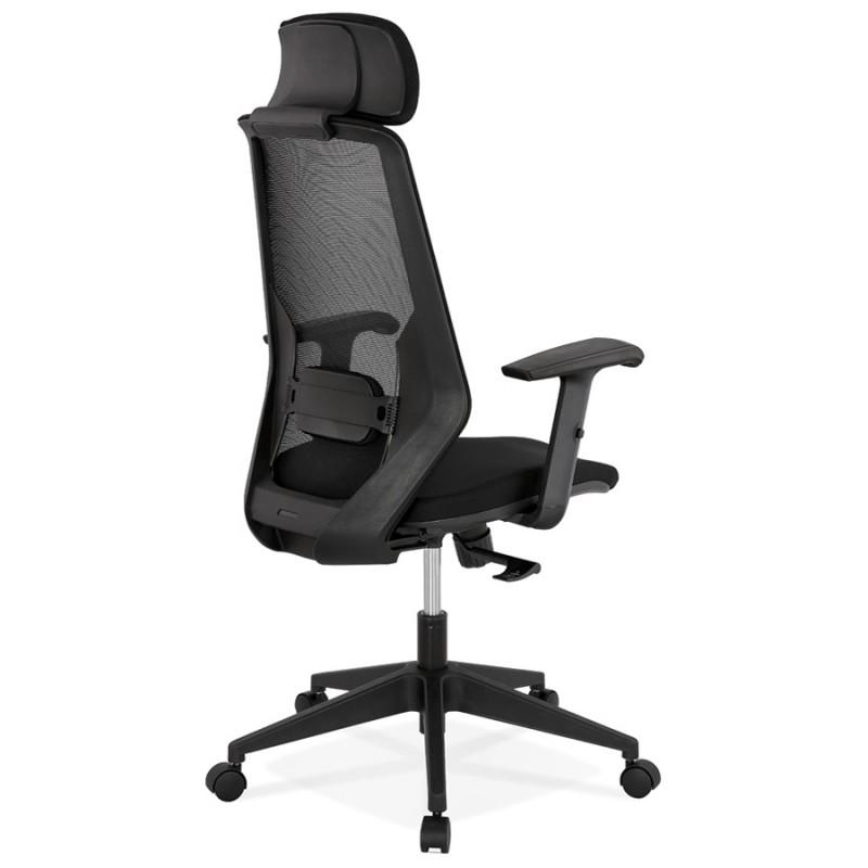 Fauteuil de bureau ergonomique en tissu AMAYA (noir) - image 49479