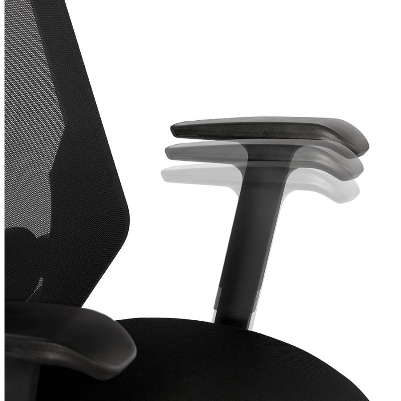 Fauteuil de bureau ergonomique en tissu AMAYA (noir) - image 49482