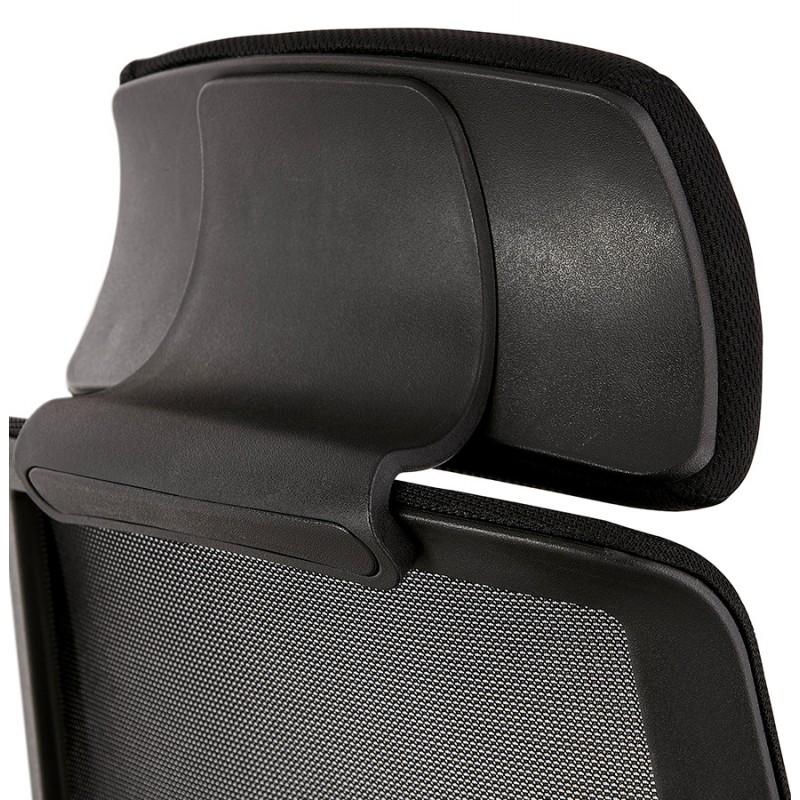 Fauteuil de bureau ergonomique en tissu AMAYA (noir) - image 49484