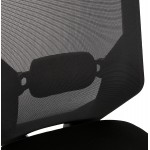 Fauteuil de bureau ergonomique en tissu AMAYA (noir)