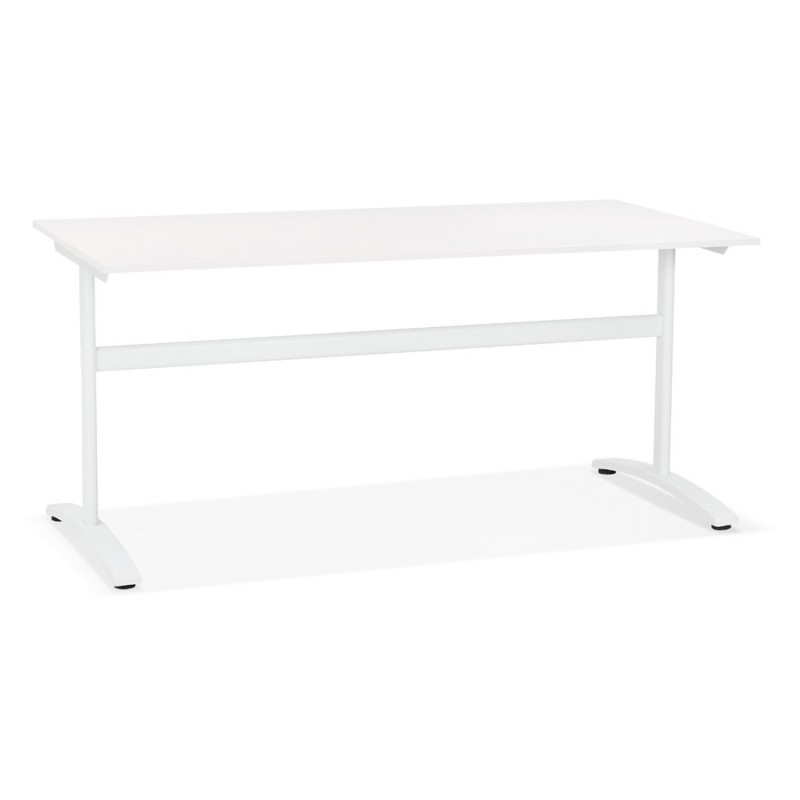 SONA white-footed wooden right desk (160x80 cm) (white) - image 49500