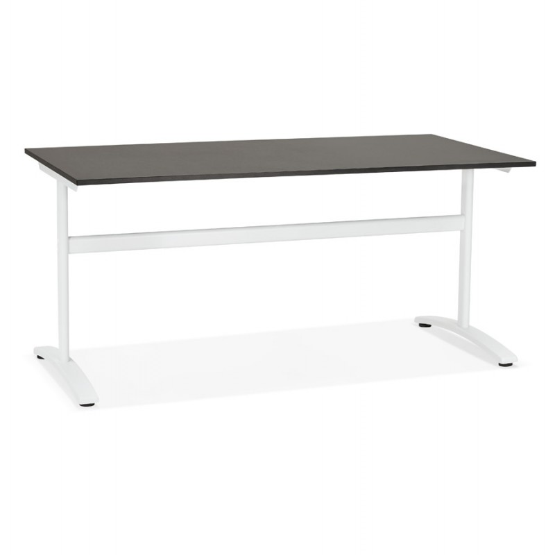 SONA white-footed wooden right desk (160x80 cm) (black)