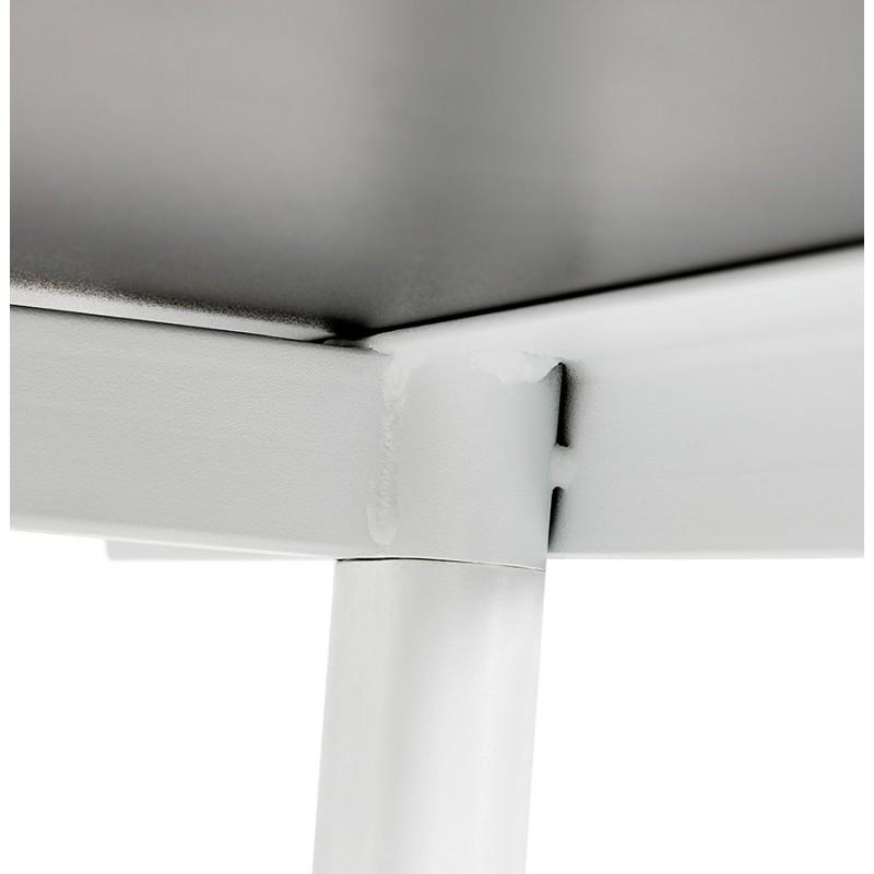 Bureau droit en bois pieds blanc SONA (160x80 cm) (noir) - image 49517