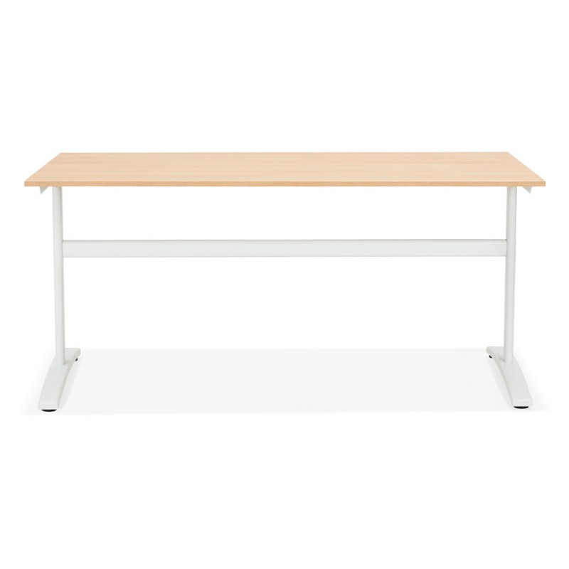 SONA white-footed wooden right desk (160x80 cm) (natural finish) - image 49521
