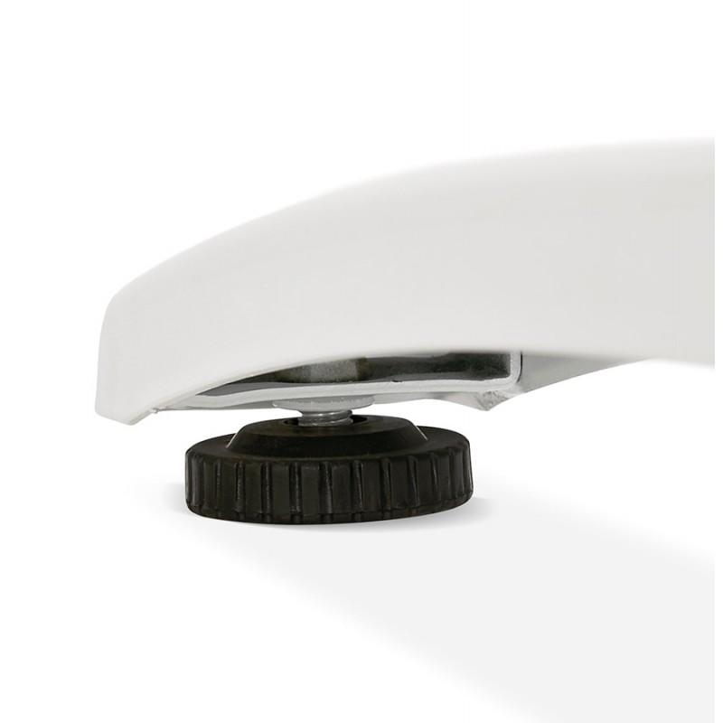 SONA scrivania destra in legno dai piedi bianchi (160x80 cm) (finitura in noce) - image 49539