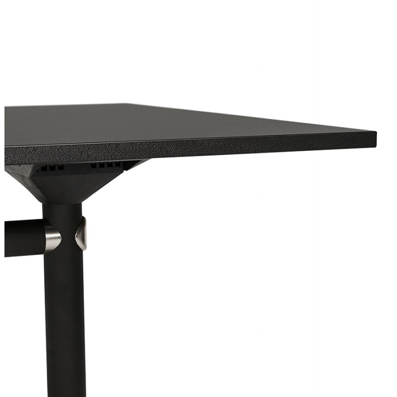 SAYA black-footed wooden wheely table (140x70 cm) (black) - image 49560