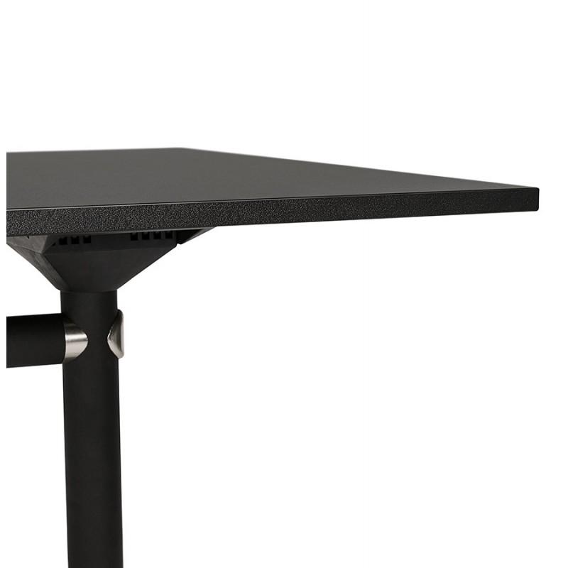Table pliante sur roulettes en bois pieds noirs SAYA (140x70 cm) (noir) - image 49560