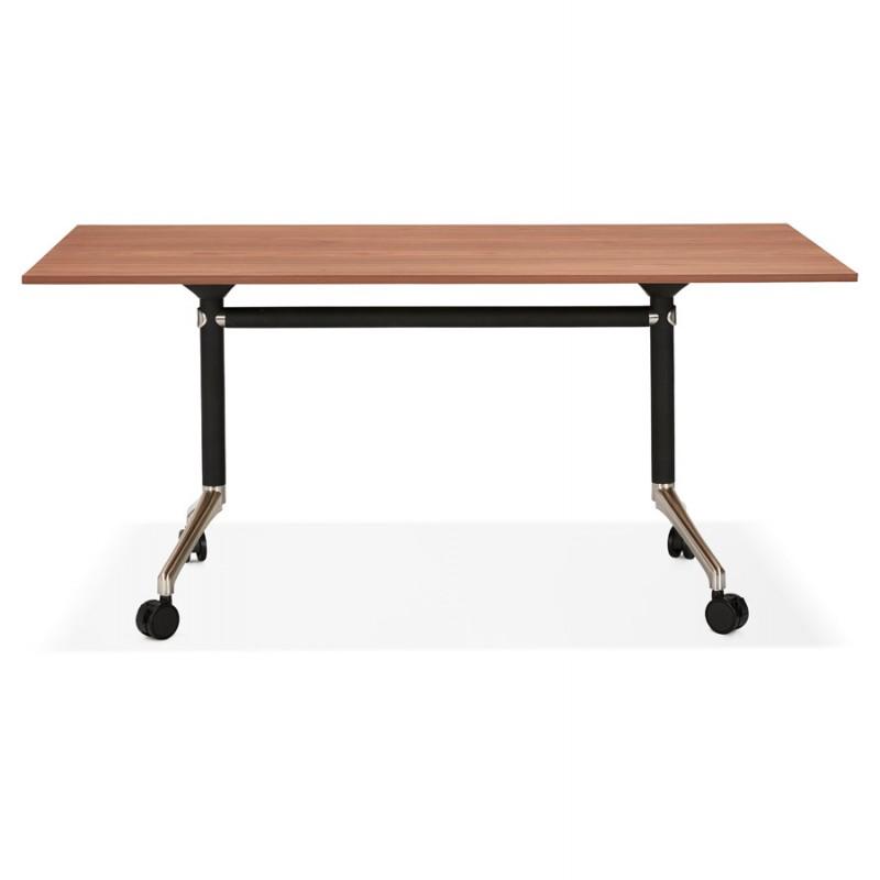 Falttisch auf Rädern aus Holz schwarze Füße SAYA (160x80 cm) (Finish Nussbaum) - image 49582