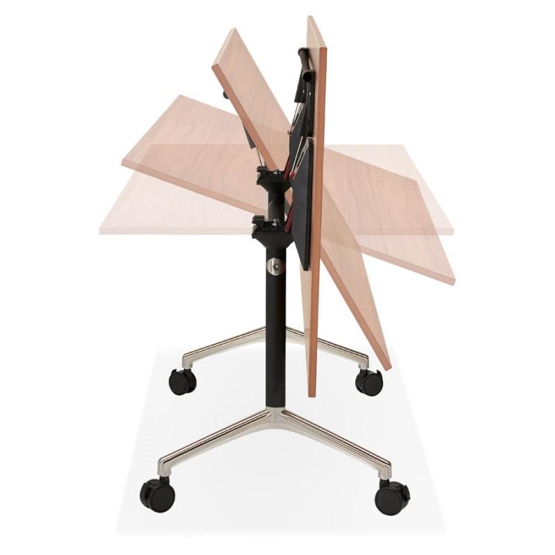 SAYA black-footed wooden wheely table (160x80 cm) (walnut finish) - image 49586