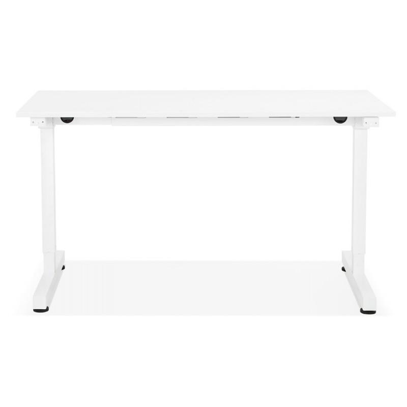 Bureau assis debout en bois pieds blanc cassé NAOMIE (140x70 cm) (blanc) - image 49595