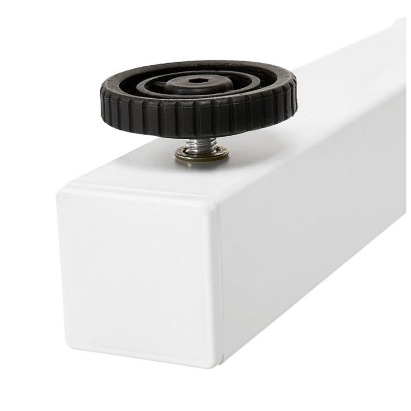 Bureau assis debout en bois pieds blanc cassé NAOMIE (140x70 cm) (blanc) - image 49603