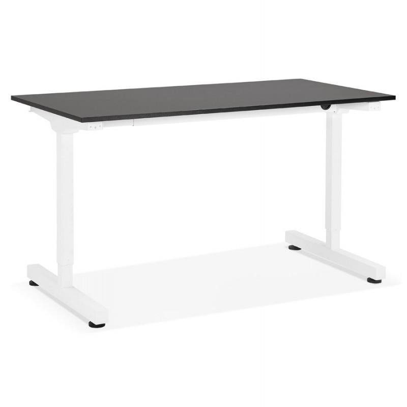 Standing desk sitting in wooden off-white feet NAOMIE (140x70 cm) (black)