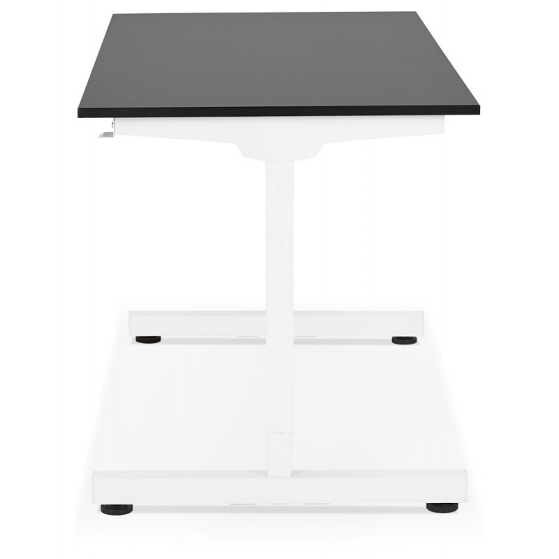Standing desk sitting in wooden off-white feet NAOMIE (140x70 cm) (black) - image 49606