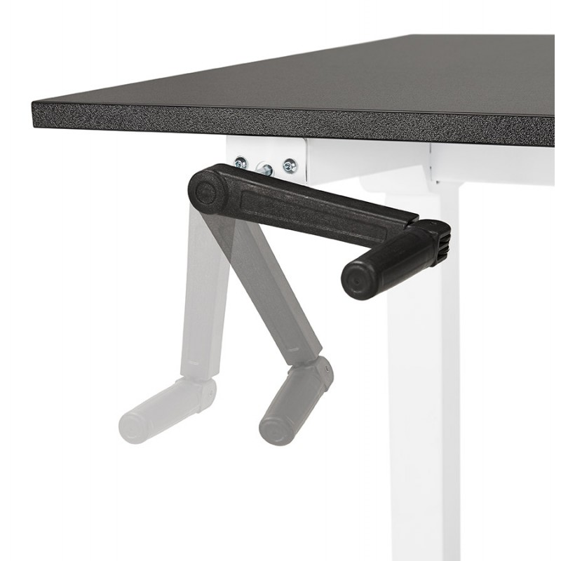 Standing desk sitting in wooden off-white feet NAOMIE (140x70 cm) (black) - image 49610