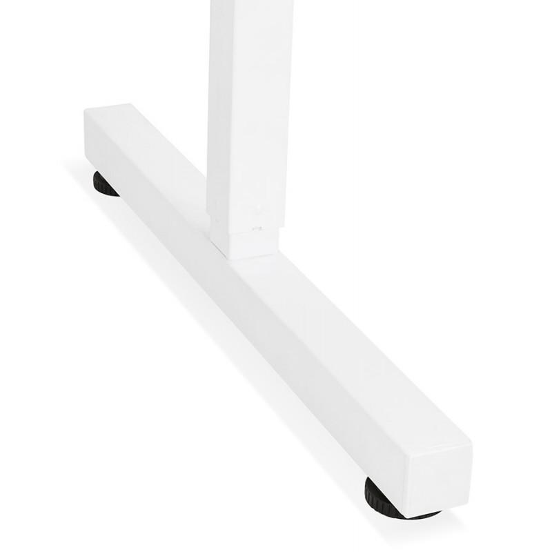 Bureau assis debout en bois pieds blanc cassé NAOMIE (140x70 cm) (noir) - image 49611