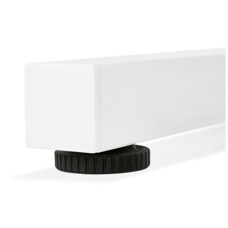 Bureau assis debout en bois pieds blanc cassé NAOMIE (140x70 cm) (noir) - image 49612