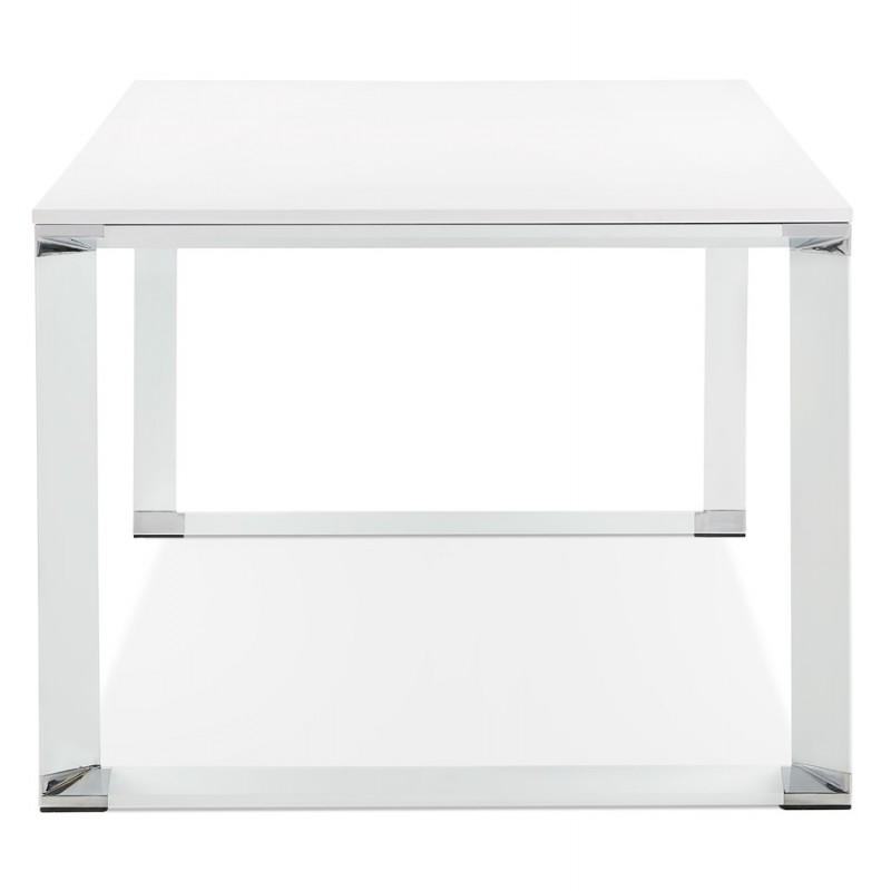 Bureau droit design en bois pieds blanc BOUNY (200x100 cm) (blanc) - image 49616