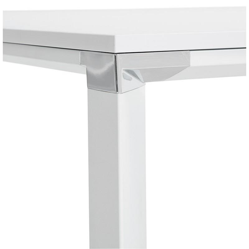 Bureau droit design en bois pieds blanc BOUNY (200x100 cm) (blanc) - image 49620