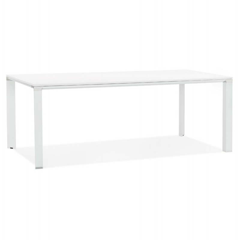 NORA wooden design meeting table (200x100 cm) (white) - image 49625