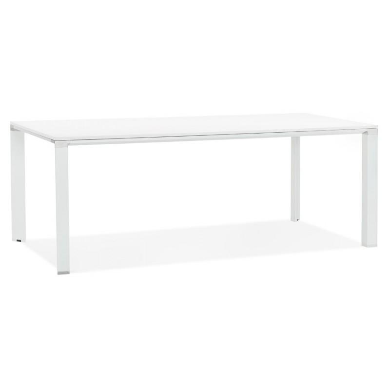 Tavolo da pranzo noRA in legno (200x100 cm) (bianco) - image 49625