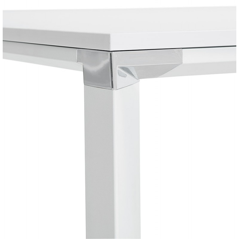 Bureau droit design en bois pieds blanc BOUNY (140x70 cm) (blanc) - image 49640