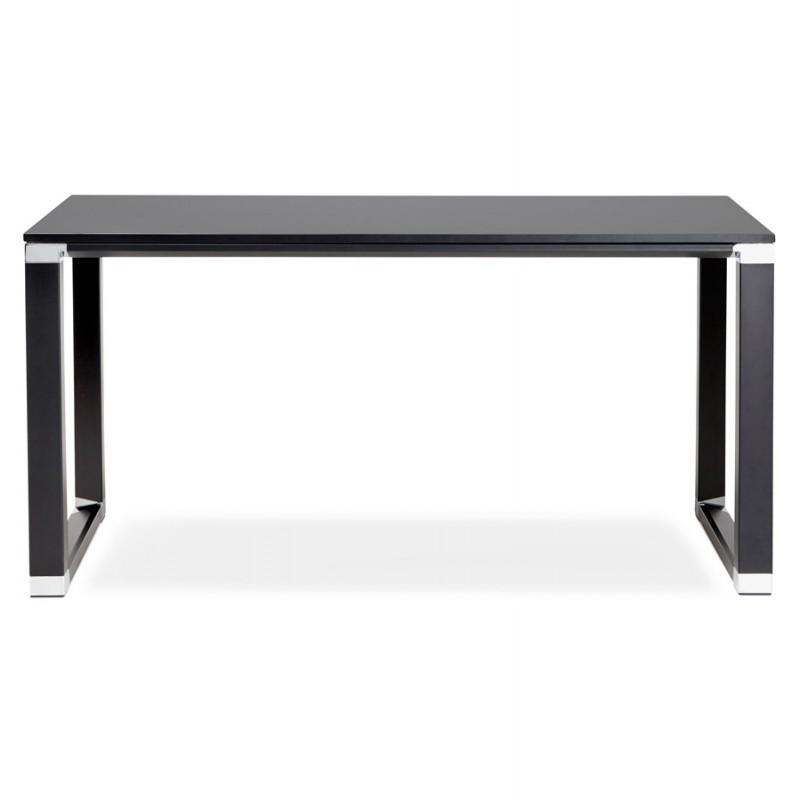 Bureau droit design en bois pieds noirs BOUNY (140x70 cm) (noir) - image 49646