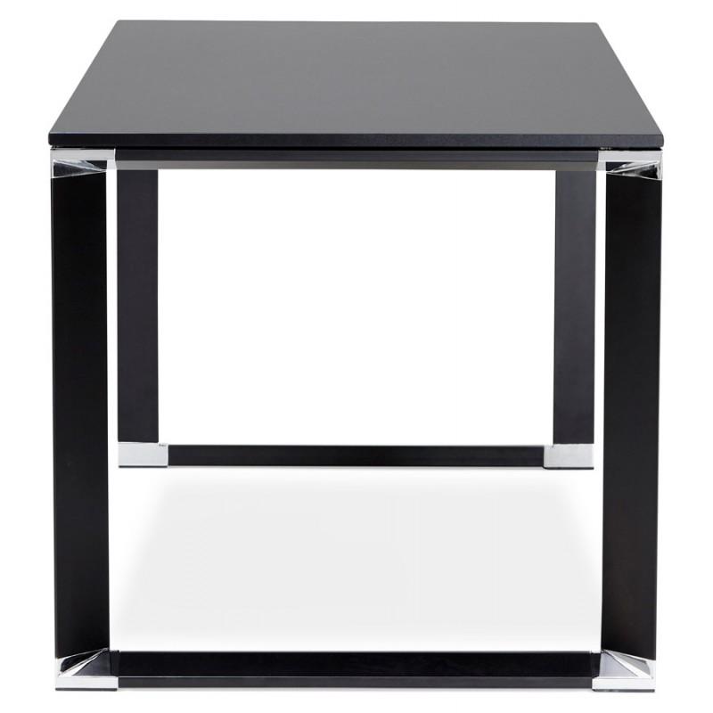 Bureau droit design en bois pieds noirs BOUNY (140x70 cm) (noir) - image 49647